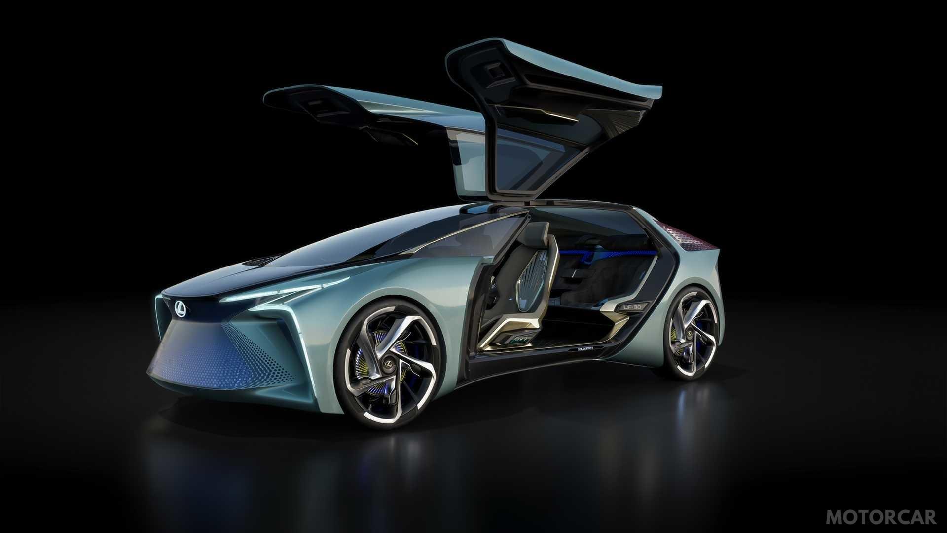 Галерея: «літаючий» електрокар Lexus LF-30